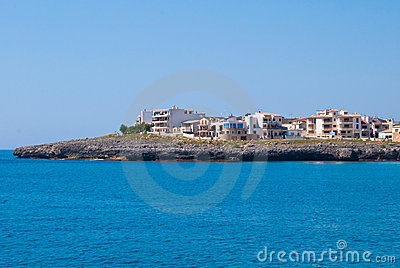 Hotels and villas on Sa Coma cape, Majorca island