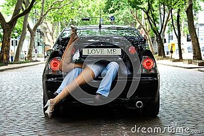 Houd van me in de auto