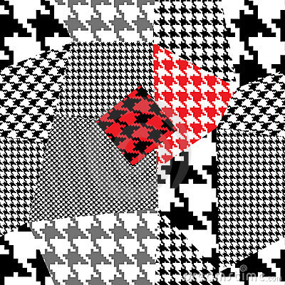 Houndstooth patchwork