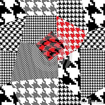 Houndstooth patchwork