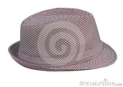 Houndstooth Pattern Mans Hat