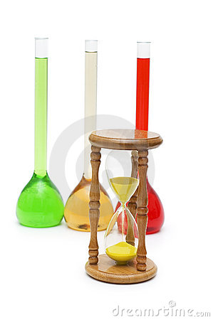 Hour glass and tubes isolated