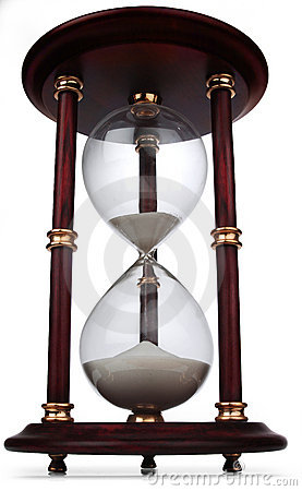 Hour glass on white