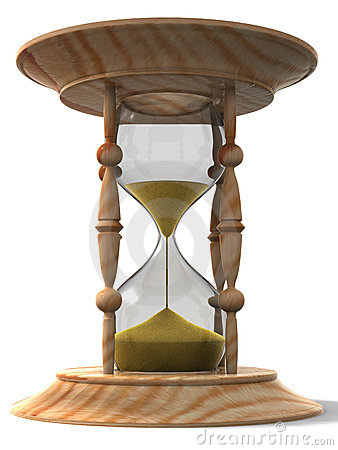 Free Hourglass. 3d Royalty Free Stock Photos - 6200058
