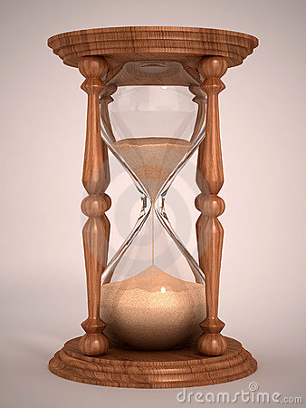 Free Hourglass 3d Illustration Stock Photos - 23117863