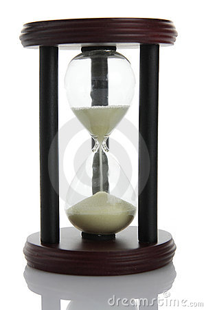 Hourglass counting the time