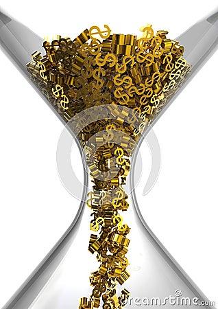 Hourglass of Dollars