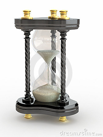 Hourglass. Handglass on white isolated background