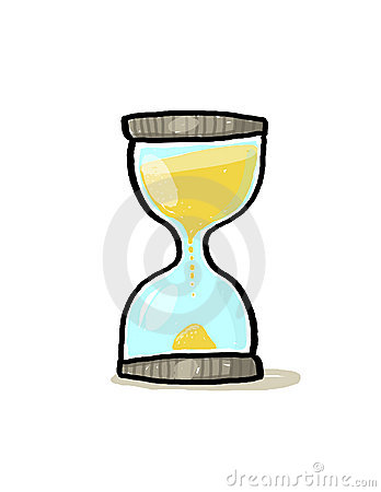 Hourglass illustration; Sand glass cartoon