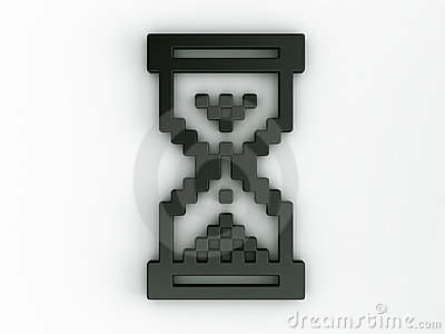 Hourglass mouse cursor in 3d