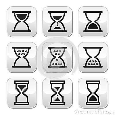 Hourglass, sandglass  icon set