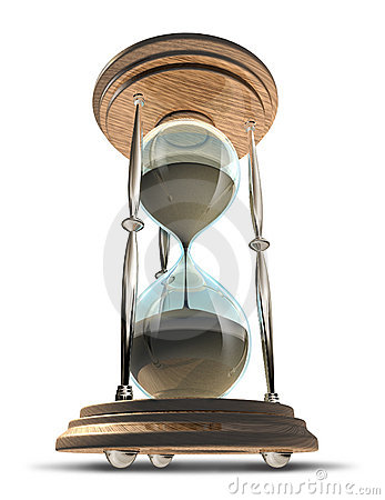 Hourglass symbol in a forced perspective
