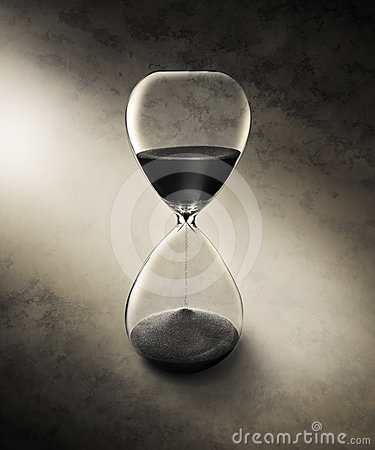 Hourglass Time Background