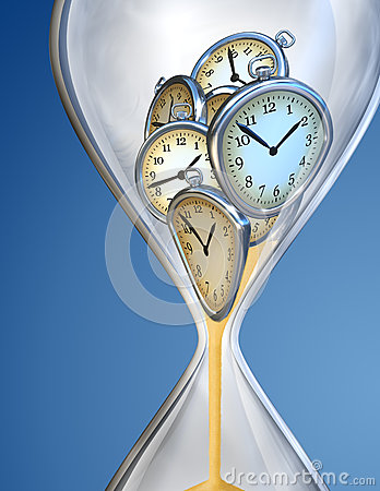 Hourglass time clock