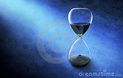 Hourglass Time Clock Background