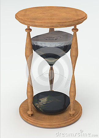 Hourglass time is earth