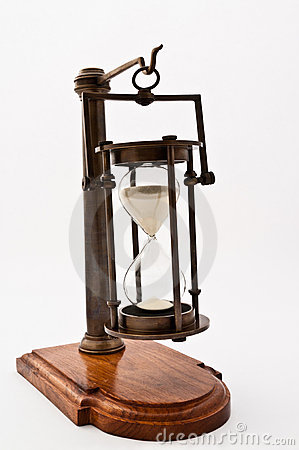 Hourglass with Time Remaining