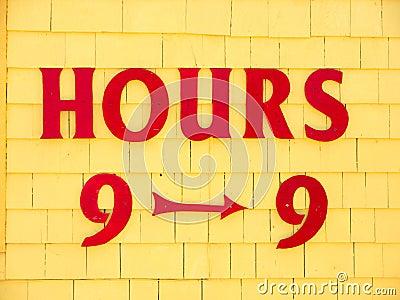 Hours Nine to Nine