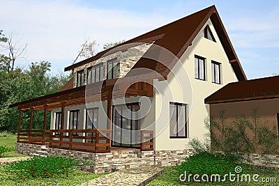 House 3D Render