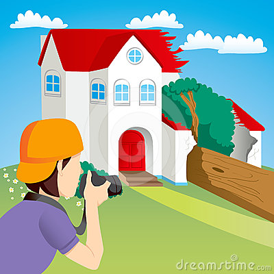 House Accident News Stock Image - Image: 24596351