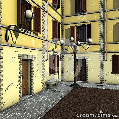 House angle hold facade