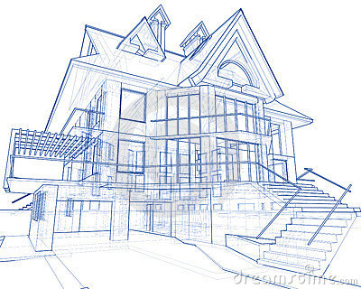 Engeeniering and architect byyaritza and natalie lessons tes modern house blueprint stock image image 6360271 malvernweather