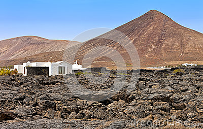 House in an arid landscape, Tahiche, Lanzarote
