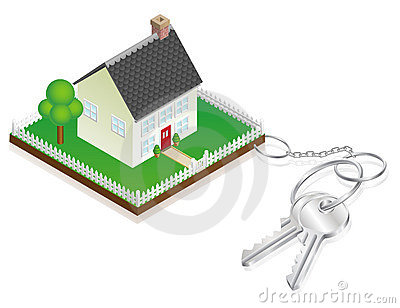 House attached to keys as keyring