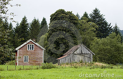 House and barn, Norway