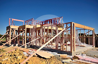 House Being Built Royalty Free Stock Images - Image: 24589159