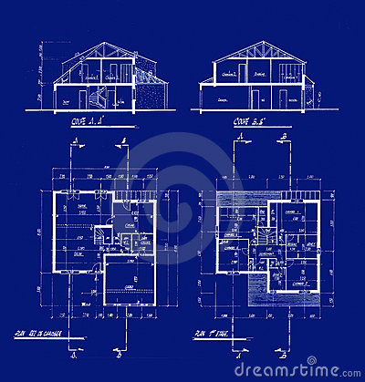 House Blueprints Royalty Free Stock Photography Image