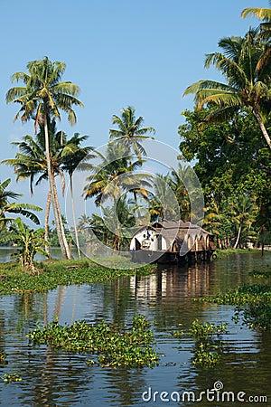 House boat on Kerala backwaters