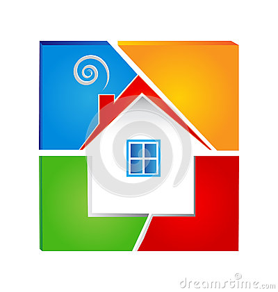 House colorful logo