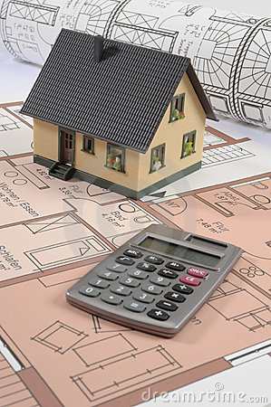 Free House Building Plan Stock Image - 9471341