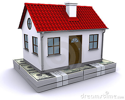 House on a bundle of dollars