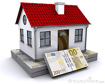 House on a bundle of euro
