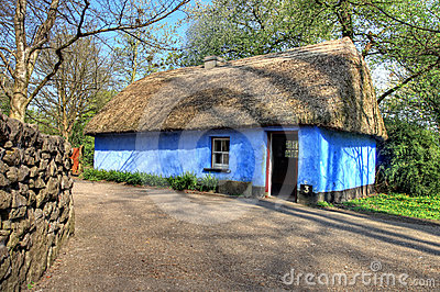 House in Bunratty Castle & Folk Park - Ireland.