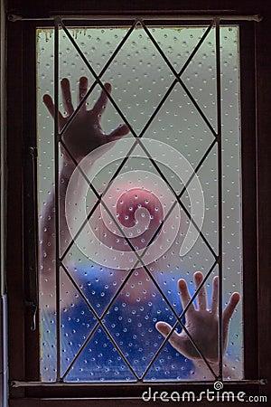 House Burglar Window Bars Blurred Theft