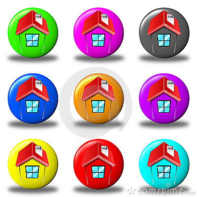 House button set round