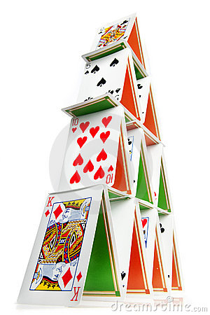 House Of Cards Stock Image - Image: 9906811