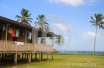 House on caribbean sea corn island nicaragua