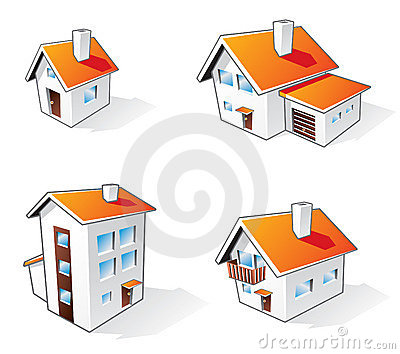 House cartoon icons