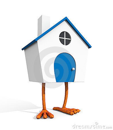 House on chicken leg
