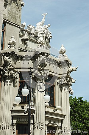 House with chimeras,famous Kiev landmark ,Ukraine