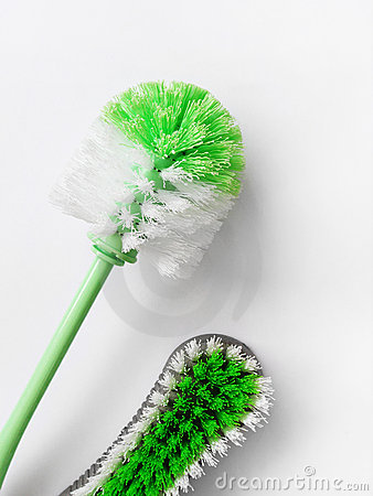 House chores scrubbing cleaning brushes