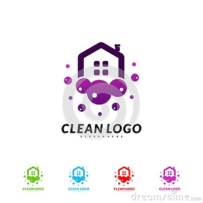 Free House Cleaning Logo Concept Design Vector. Cleaning Home Logo Template Royalty Free Stock Image - 137656856