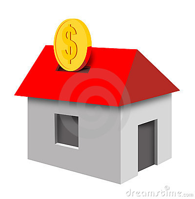 House with coin