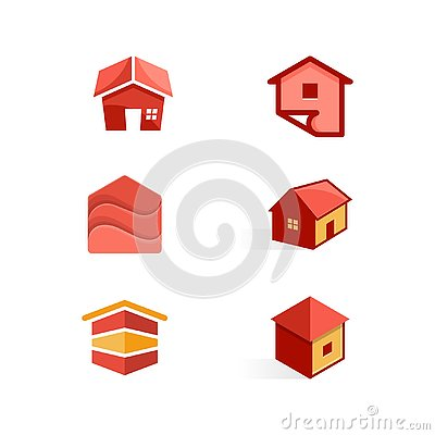 House color Concept illustration vector Design template Vector Illustration