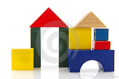 House from colorful blocks