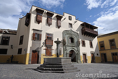 House Of Columbus In Las Palmas De Gran Canaria Stock Image - Image: 14239611